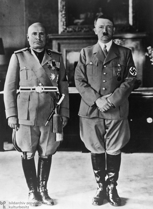 Adolf Hitler on a State Visit to Benito Mussolini in Rome (1938)