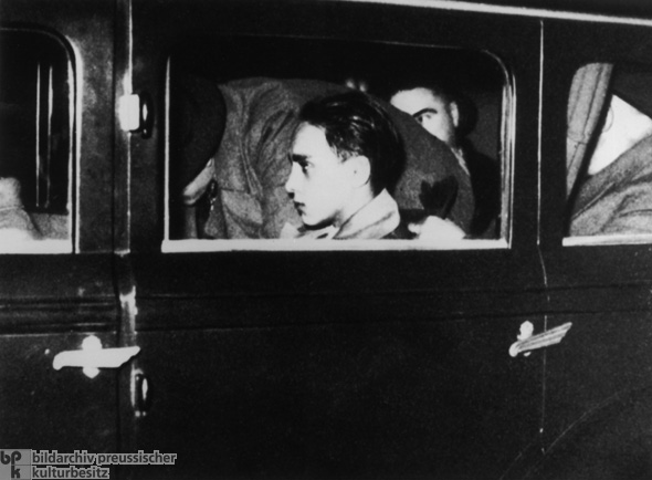 Herschel Grynszpan, Apprehended Shortly after Assassinating Ernst von Rath, the Legation Secretary of the German Embassy in Paris (November 7, 1938)