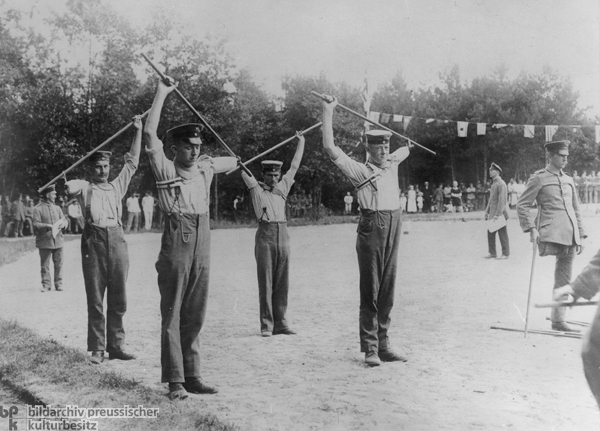 Disabled Veterans Do Calisthenics (c. 1917)
