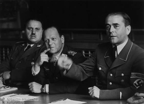 Armaments Minister Albert Speer at a Meeting on Armaments Questions (1943)