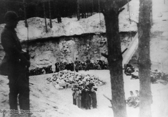 Mass Execution of Lithuanian Jews by Members of the Wehrmacht and the Lithuanian Self-Protection Unit [<I>Selbstschutz</i>] (1942)
