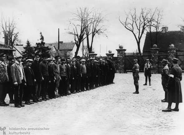 Prisoners during Roll Call at the Oranienburg