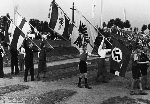 Katholisches Jugendtreffen in Berlin-Neukölln (20. August 1933)