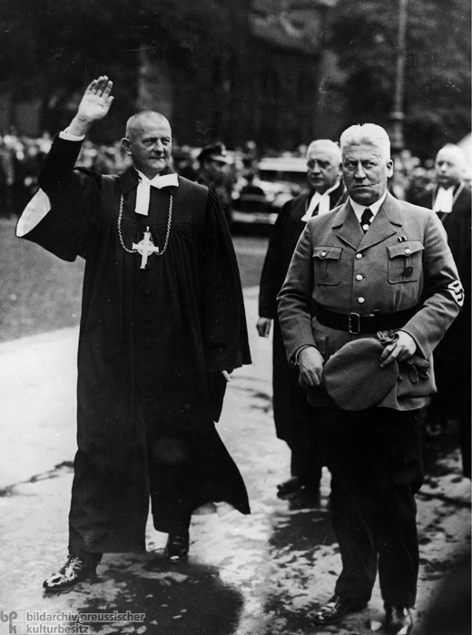 Reich Bishop Ludwig Müller after his Inauguration at the Berlin Cathedral (September 23, 1934)