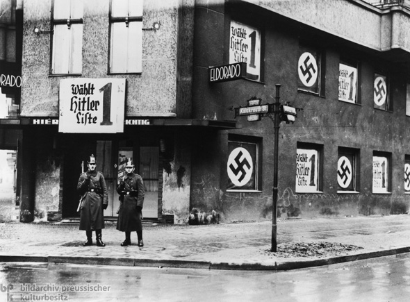 1933 Election Campaign: Hitler's Election Posters Cover the Front of
