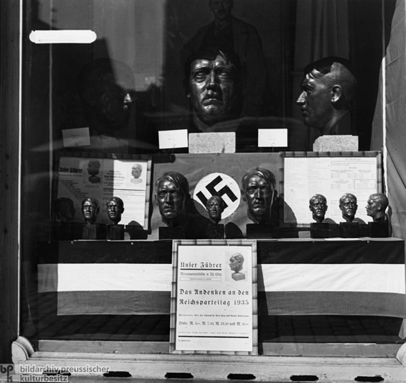Display Window with Busts of Hitler: Souvenirs from the