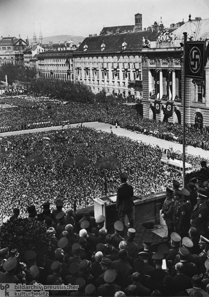 Rally on Heldenplatz [Heroes' Square] in Vienna – Hitler Delivers a Speech on the Day after the Annexation of Austria (March 15, 1938)