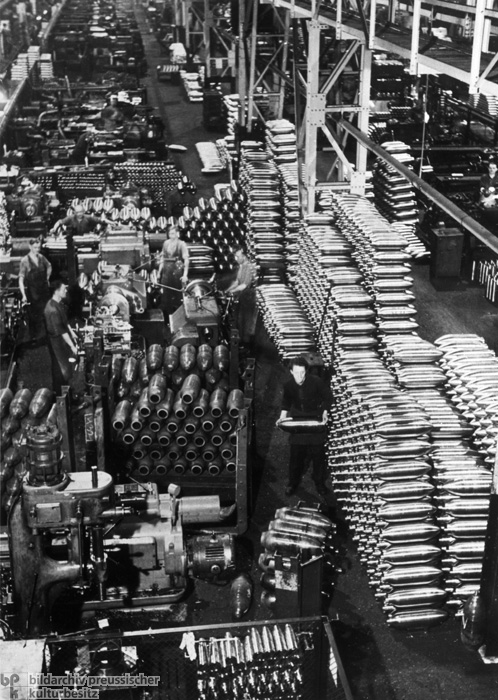 View of a Factory Workshop for the Production of Artillery Shells (November 13, 1940)