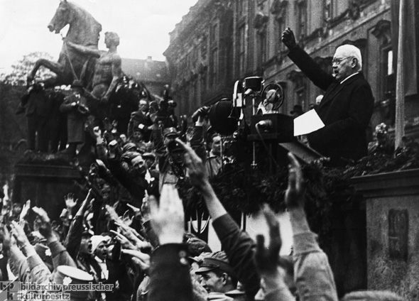 Reich President Paul von Hindenburg Delivers His Very First May Day Address, Berlin (May 1, 1933)