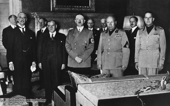 Group Photo of the Participants in the Munich Conference (September 29, 1938)