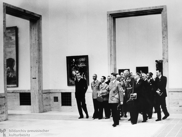 Hitler and his Entourage view the Second