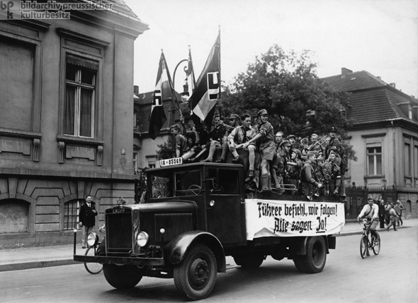 Hitler Youth on the Occasion of the Referendum on the Merging of the Offices of Reich President and Reich Chancellor (August 19, 1934)