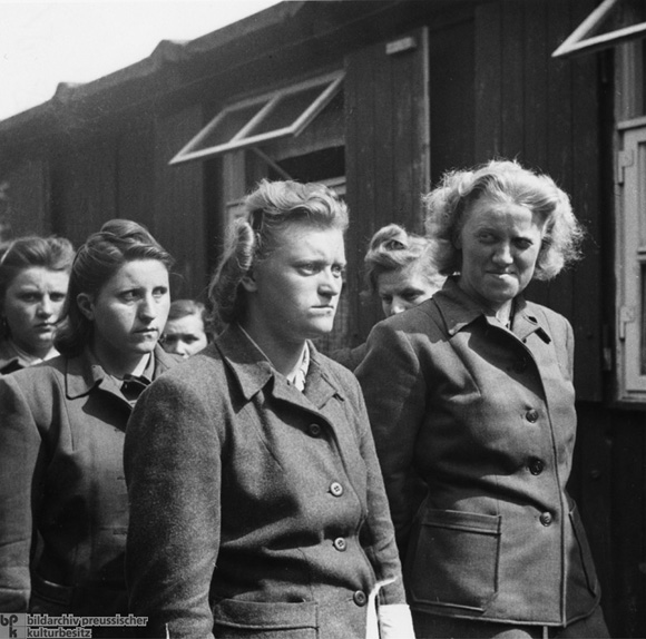 Female SS Guards after their Arrest in Bergen-Belsen (May 15, 1945)