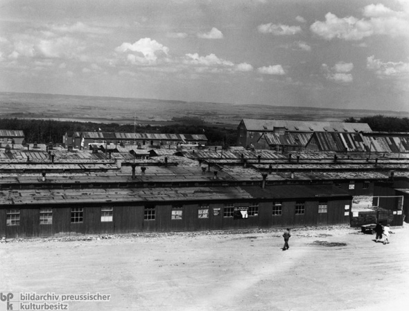 View of a Section of the Buchenwald Concentration Camp after its Liberation by American Troops (May 1945)