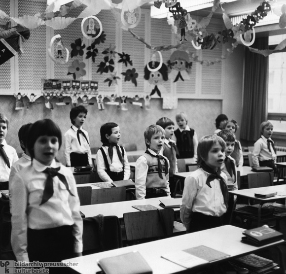 First-Graders at a School in East Berlin (1979)