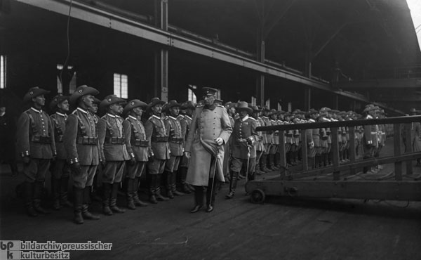 Alfred von Schlieffen Inspects Troops Prior to their Deployment in the Herero War (May 1, 1904)