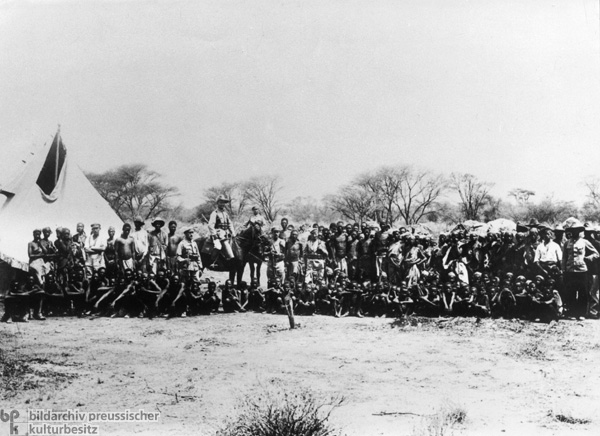 Herero Tribesmen Captured during the Herero War in German Southwest Africa (1904)
