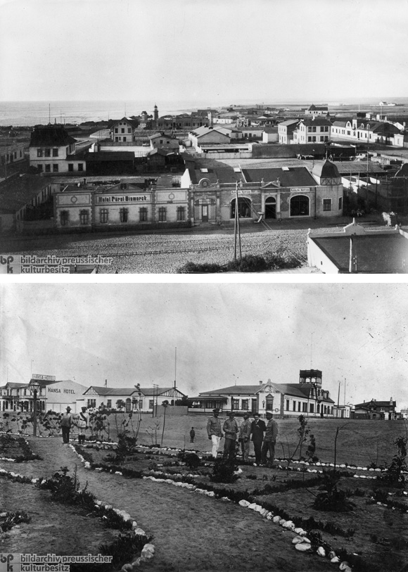 Swakopmund: Two Views (c. 1905 and c. 1908)
