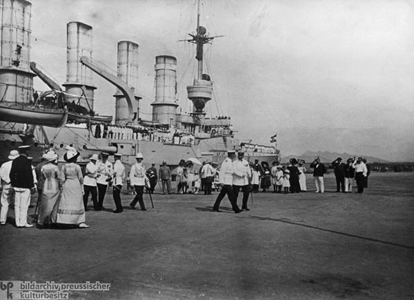 Visit of the Admiral of the German Fleet Prince Heinrich of Prussia to Kiaochow, China (1913)