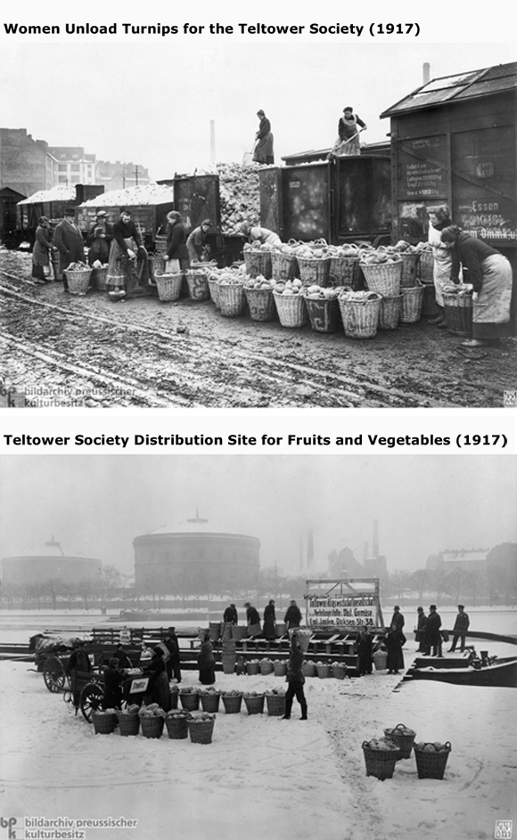 Food Distribution by the Teltower War Provisions Management Society  (1917)