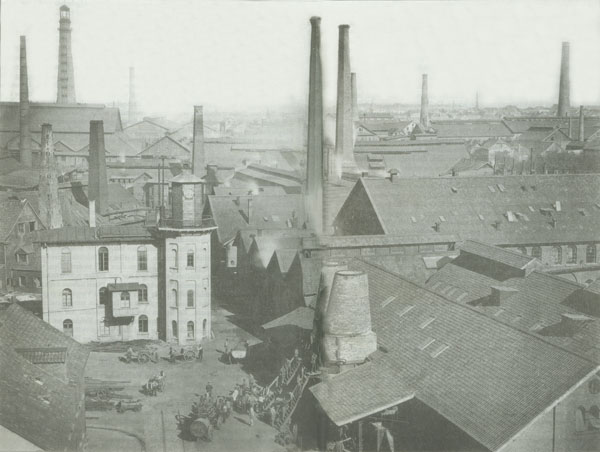 Krupp Smokestacks in Essen (1867)