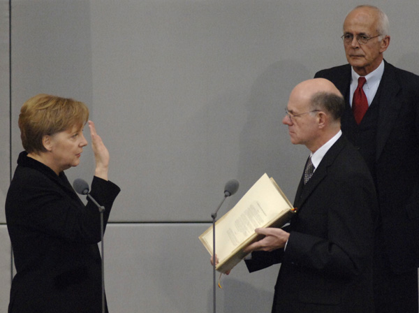 Angela Merkel is Sworn in as Chancellor (November 22, 2005)