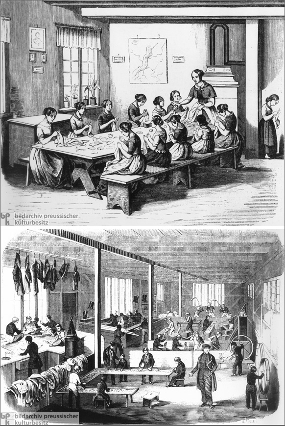 Orphaned Girls and Boys in a Welfare Institution (1846)