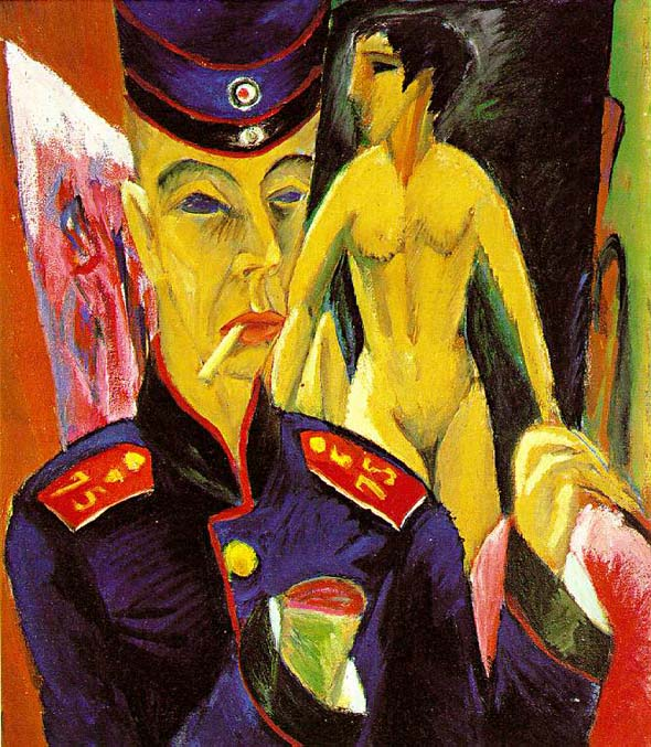 Ernst Ludwig Kirchner, <i>Self-Portrait as a Soldier</i